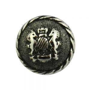 Silver crest buttons