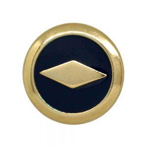 metal diamond motif buttons