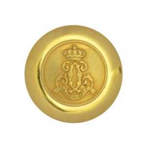 gold crown crest buttons
