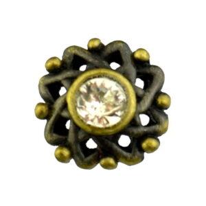 Rhinestone star buttons