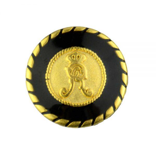 metal royal crest buttons