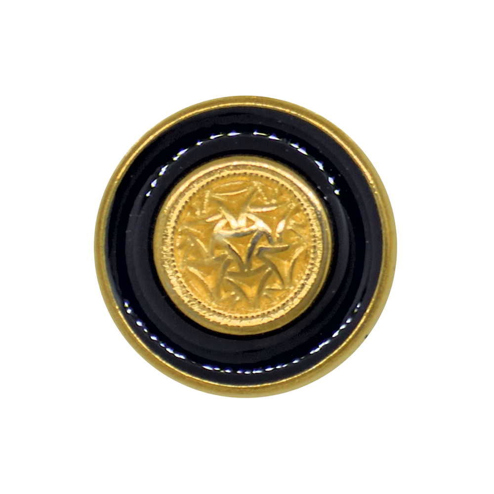METAL GOLD DECORATIVE FLAT SHANK BUTTON Size 18mm and 23mm