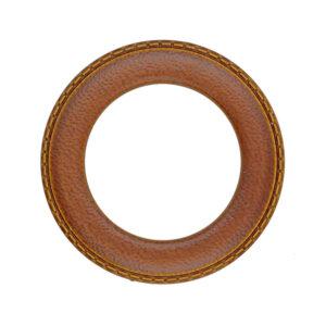 Leather effect O-Ring Slider