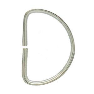 Silver Metal D Rings