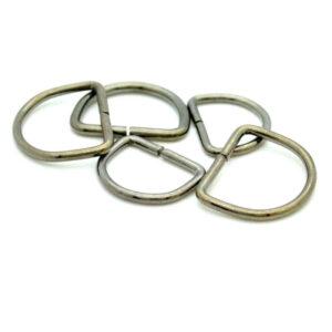 Split D Rings gunmetal grey