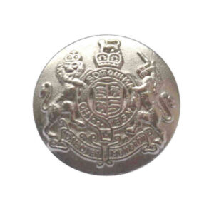 Royal crest buttons silver