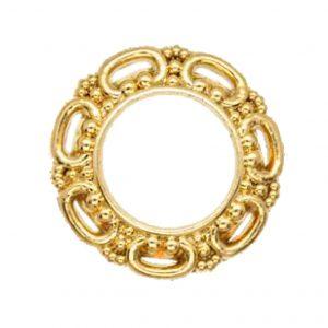 Decorative Gold rim buttons