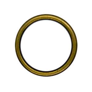 Brass rim white buttons