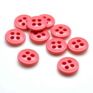 coral pink nylon buttons