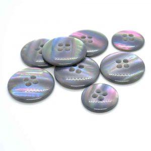 grey iridescent buttons