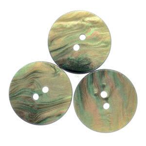 Green iridescent buttons