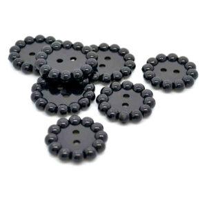 Black ball rim buttons