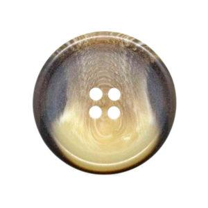 Horn effect coat buttons brown