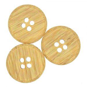 BROWN Wooden effect buttons