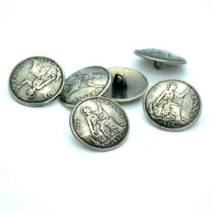 one penny buttons silver
