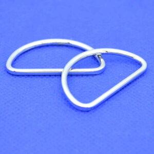 Welded Silver D Rings