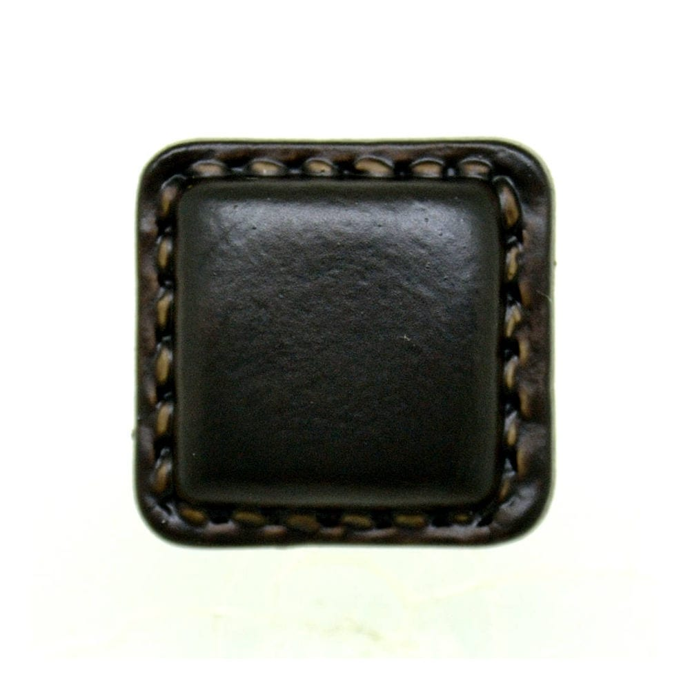 LEATHER LOOK SQUARE BUTTONS 16 5mm 20mm